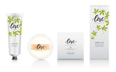 Cosmetic Packaging Template : Vector Illustration