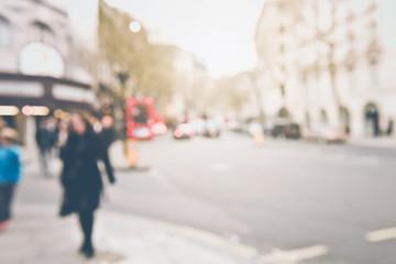Blurred Traffic in London England