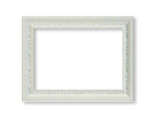 white frame isolted on white background