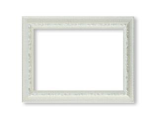 white frame isolted on white background