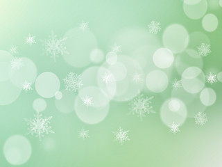 Green Abstract Winter Background