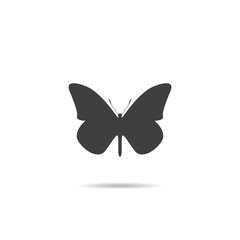Icon, Silhouette of a butterfly.