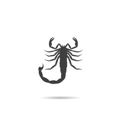 Icon, Silhouette of a scorpion.