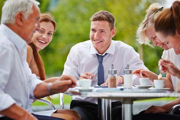Group of businesspeople having meeting