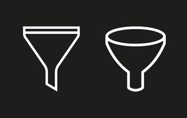Funnel vector icon.