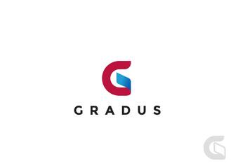 Letter G Logo ribbon design vector. Monogram Logotype icon