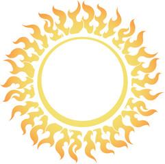 Decorative vector bright colorful sun symbol