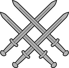 knot from medieval swords. vector illustration