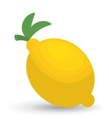 lemon fruit healthy organic food icon. Colorful and flat design. Vector illustration