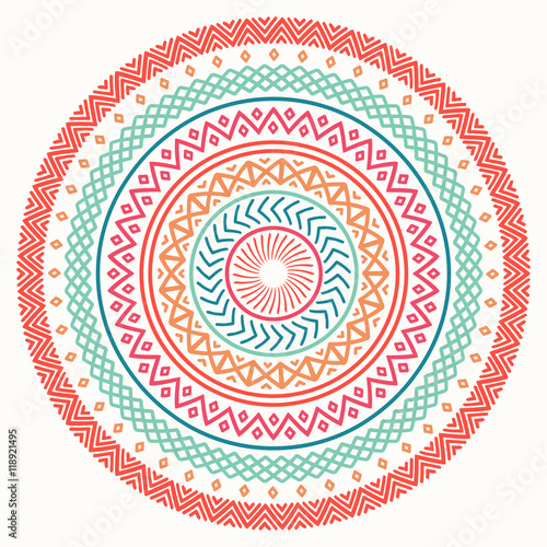 Quot Ethnic Mandala Tribal Hand Drawn Line Geometric Seamless