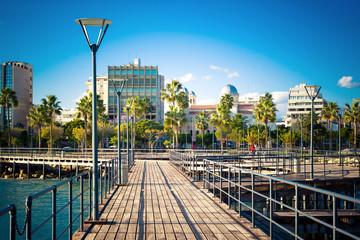 View of Limassol Seaside Park. Cyprus