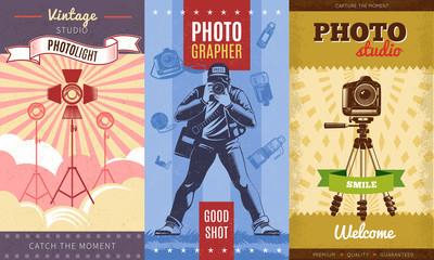 Vintage Photographer Poster Set