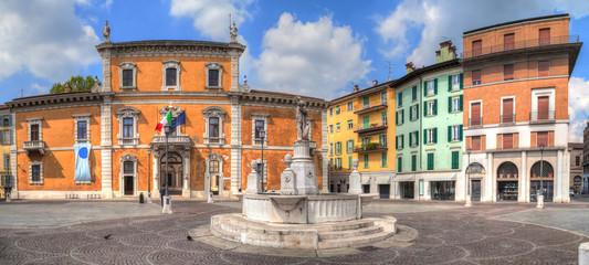 Panorama of Piazza del Mercato in Brescia Wall mural