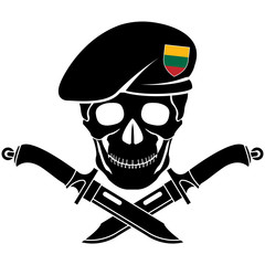 sign of special forces of Lithuania. vector illustration