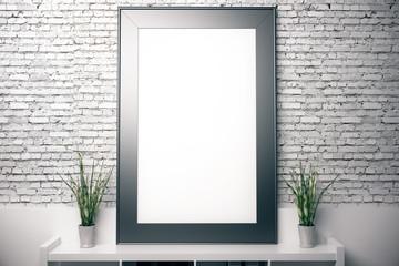 Blank vertical frame