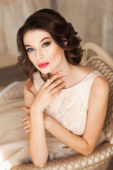 Beautiful girl of the bride