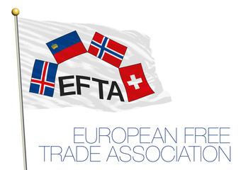 EFTA, European Free Trade Association flag and symbols