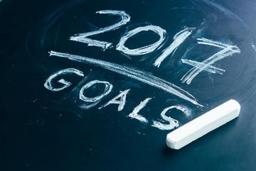Plan a list of goals for 2017 on  blackboard