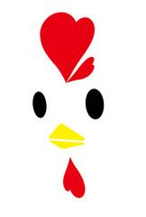 鶏の顔 シンプル
