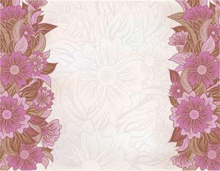 Vintage floral wallpaper, vector illustration