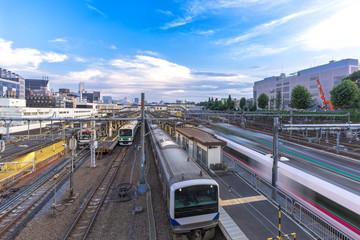 Aluminium Prints Train Station tokyo railway station