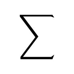 Sigma symbol icon