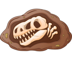 Cartoon head dinosaur fossil