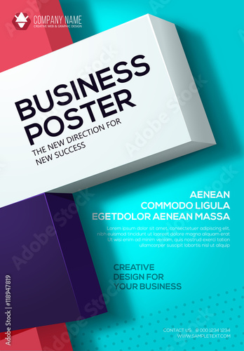 Vector business poster flyer template poster for your business vector business poster flyer template poster for your business cover presentation wajeb Images