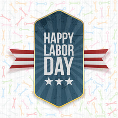 Happy Labor Day Text on Label