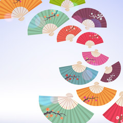Abstract background with fans.