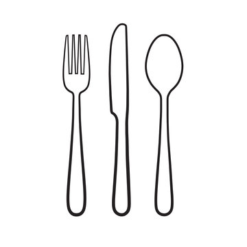 Fork spoon knife icon sign symbol