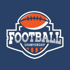 Sport American Football Logo. American style.