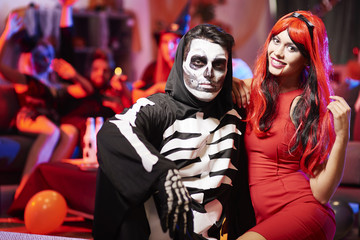Creepy couple at the party