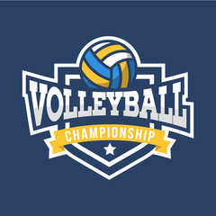 Sport Volleyball Logo. American style.