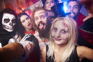 Selfie taken at the halloween party.