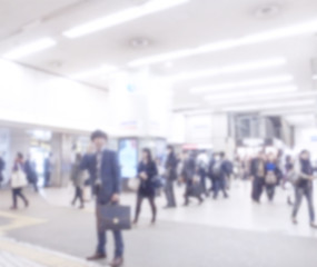 Blurred image of business people traveling. use for brochure cov