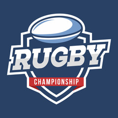 Sport Rugby Logo. American style.