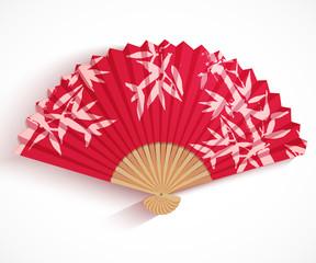 Decorative folding fan.