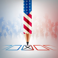 United States Vote.American Election day.vector illustration eps