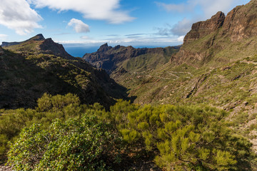 Canary Islans, Tenerife, view on Masca village