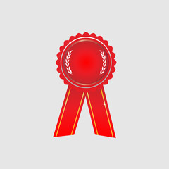 Ribbon award icon red vector