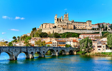 Beziers town. France Wall mural