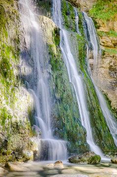cascade du hérisson, Jura, France, en longue pose