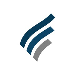 Elegant feather shape simple business icon logo