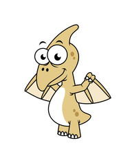 Cute illustration of a pterodactyl.