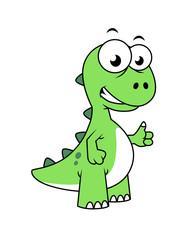 Cute illustration of Tyrannosaurus Rex.