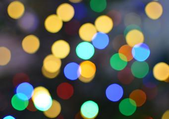 Burred bokeh lights