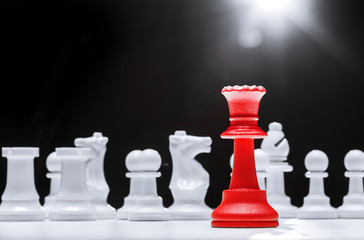 Chess business success, leadership concept