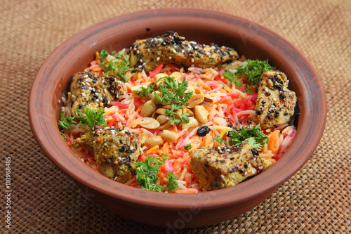 Middle East Arabic food  Mundy  Dish cooked with spices