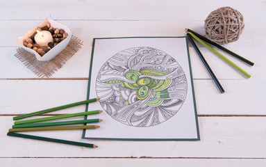 Adult Coloring Page Fresh Greens